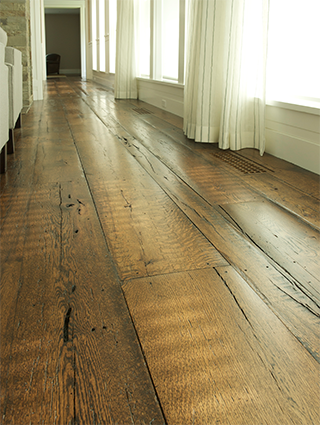The best reclaimed oak wide plank flooring