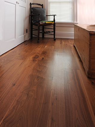 The best walnut wide plank floors.